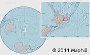 Gray Location Map of Wairoa, hill shading