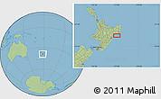 Savanna Style Location Map of Wairoa