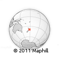 Outline Map of Wairoa, rectangular outline