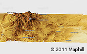 Physical Panoramic Map of Fortín Primero de Mayo