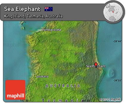 Map Of Australia King Island.Free Satellite Map Of Sea Elephant