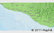 """Political 3D Map of the area around 39°39'14""""S,174°19'29""""E"""