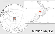 """Blank Location Map of the area around 39°39'14""""S,174°19'29""""E"""