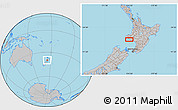 """Gray Location Map of the area around 39°39'14""""S,174°19'29""""E"""