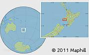 "Savanna Style Location Map of the area around 39°39'14""S,174°19'29""E"