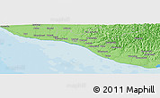 """Political Panoramic Map of the area around 39°39'14""""S,174°19'29""""E"""