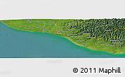"Satellite Panoramic Map of the area around 39°39'14""S,174°19'29""E"