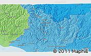 Political 3D Map of Koriniti