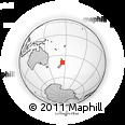 Outline Map of Koriniti, rectangular outline