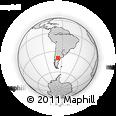 Outline Map of Río Negro, rectangular outline