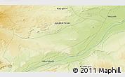 Physical 3D Map of Bajada Colorada