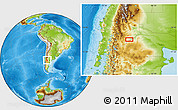 Physical Location Map of Bajada Colorada