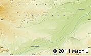 Physical Map of Bajada Colorada