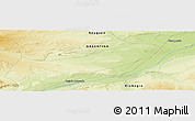 Physical Panoramic Map of Bajada Colorada