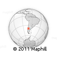 Outline Map of Malleo, rectangular outline