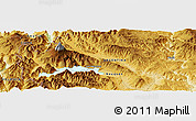 Physical Panoramic Map of Malleo