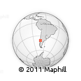 Outline Map of Panguipulli, rectangular outline