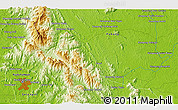 """Physical 3D Map of the area around 3°19'33""""N,102°4'29""""E"""