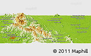 """Physical Panoramic Map of the area around 3°19'33""""N,102°4'29""""E"""