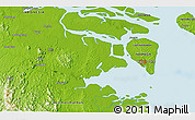 """Physical 3D Map of the area around 3°19'33""""N,117°22'30""""E"""