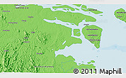 """Political 3D Map of the area around 3°19'33""""N,117°22'30""""E"""