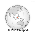 """Outline Map of the Area around 3° 19' 33"""" N, 117° 22' 30"""" E, rectangular outline"""