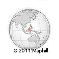 """Outline Map of the Area around 3° 19' 33"""" N, 118° 13' 29"""" E, rectangular outline"""