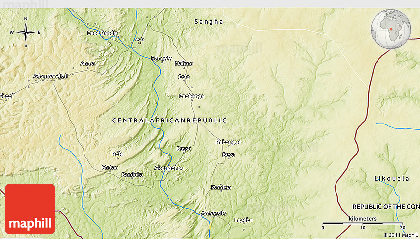 Physical 3D Map of Salo