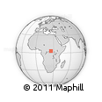 """Outline Map of the Area around 3° 19' 33"""" N, 25° 34' 30"""" E, rectangular outline"""