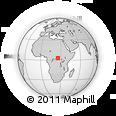 Outline Map of Zoaga, rectangular outline