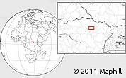 Blank Location Map of Bakindesungu