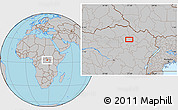 Gray Location Map of Bakindesungu