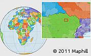 Political Location Map of Gigino
