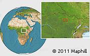 Satellite Location Map of Gigino