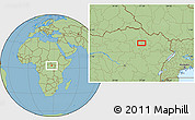 Savanna Style Location Map of Gigino