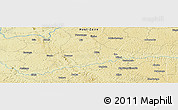 Physical Panoramic Map of Wauwa