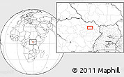 Blank Location Map of Bangabila