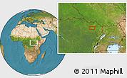 Satellite Location Map of Bangabila
