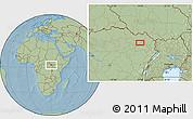 Savanna Style Location Map of Bangabila, hill shading
