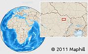 Shaded Relief Location Map of Bangabila