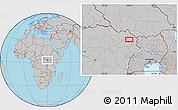 Gray Location Map of Ana
