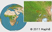 Satellite Location Map of Ana