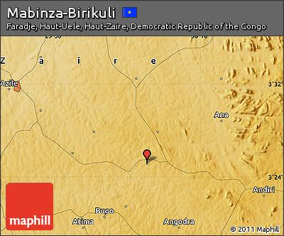 Physical Map of Mabinza-Birikuli