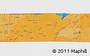 Political Panoramic Map of Buluma