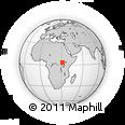 Outline Map of Amuru, rectangular outline