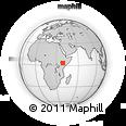 Outline Map of Moyalē, rectangular outline