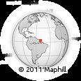Outline Map of Vila Velha, rectangular outline