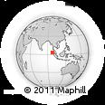 Outline Map of Bukit Lawang, rectangular outline