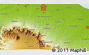 """Physical 3D Map of the area around 3°19'33""""N,98°40'30""""E"""