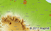 """Physical Map of the area around 3°19'33""""N,98°40'30""""E"""